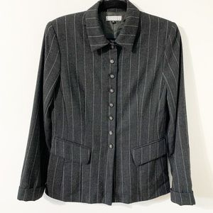 Barney's New York Worsted Wool Pinstriped Blazer